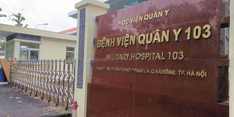Bệnh viện uy tín Quân Y 103 với nhiều trang thiết bị hiện đại là địa chỉ chữa bệnh tin cậy